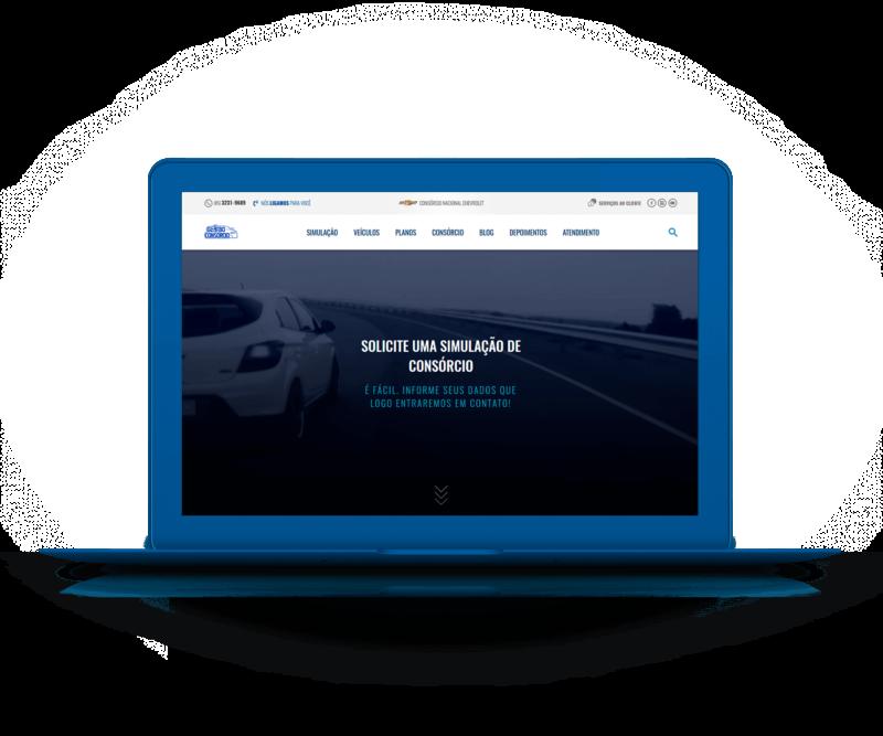 Portfólio Web - Site Responsivo Globo Consórcio Chevrolet - I9ME Web & Design