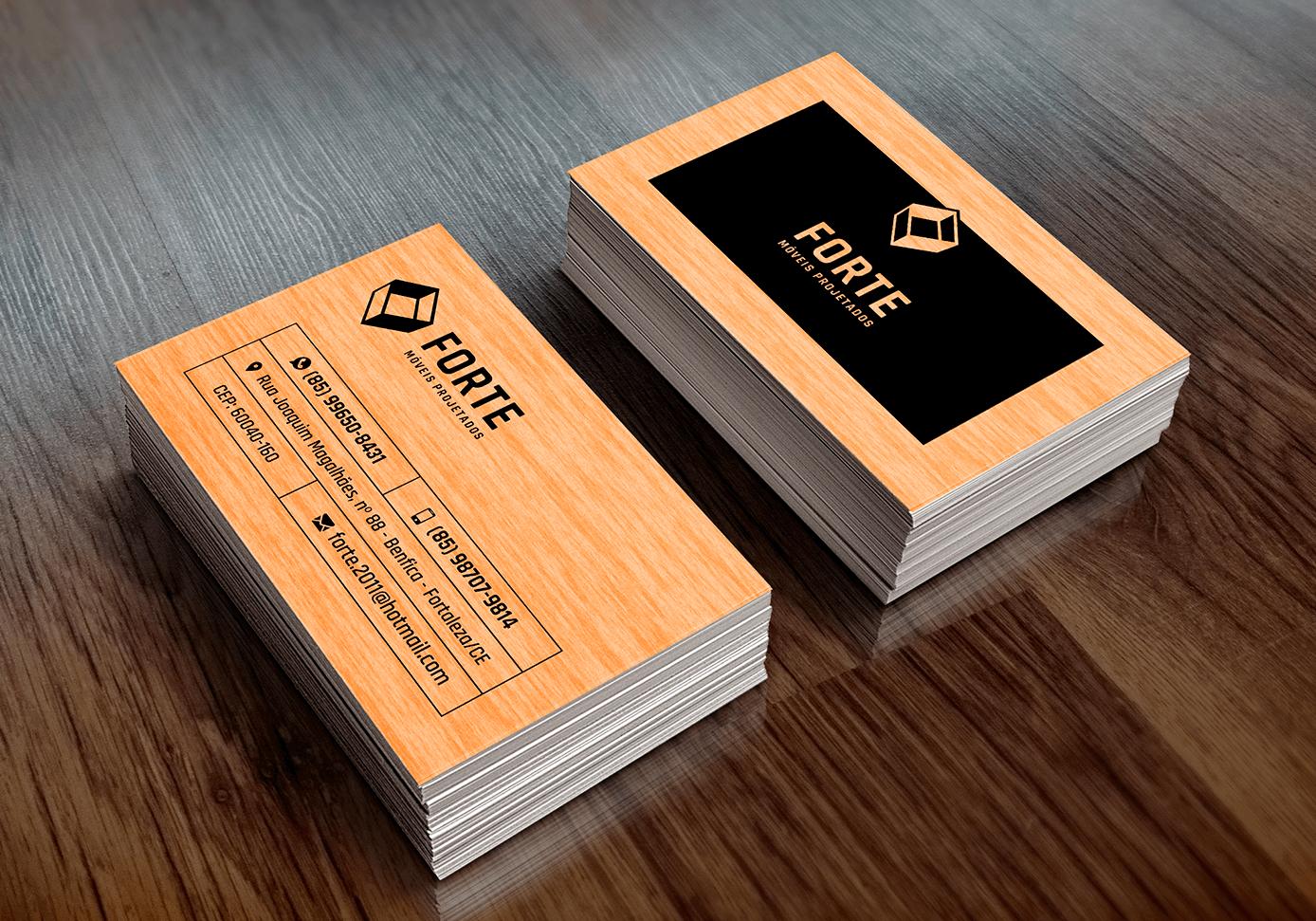 Portfólio Cartões de Visita - Forte Móveis Projetados - I9ME Web & Design - Fortaleza - CE