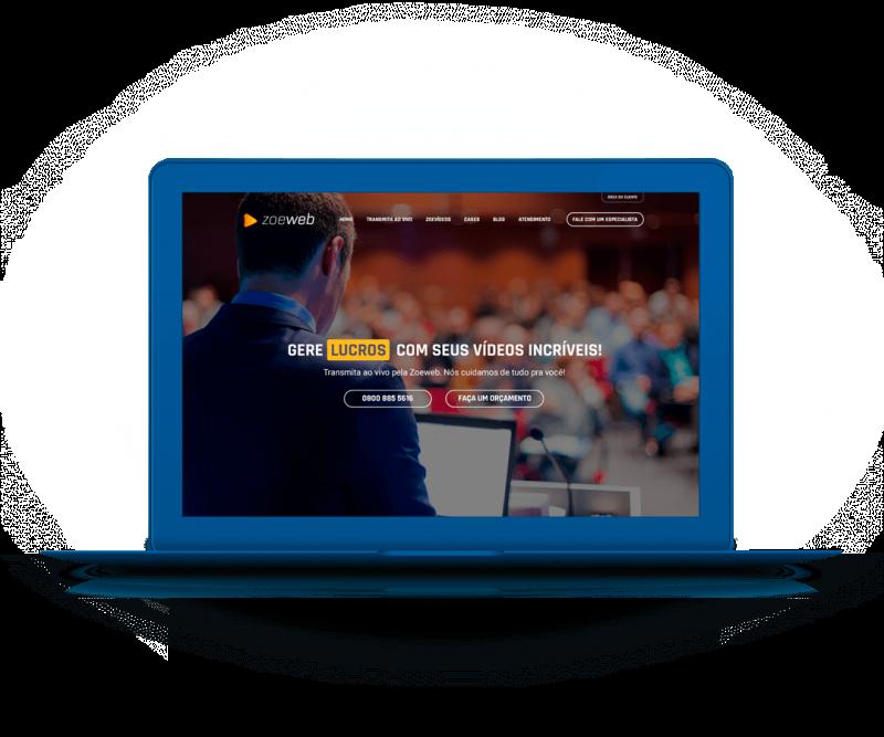 Portfólio Criação e Desenvolvimento de Site - Zoeweb Streaming