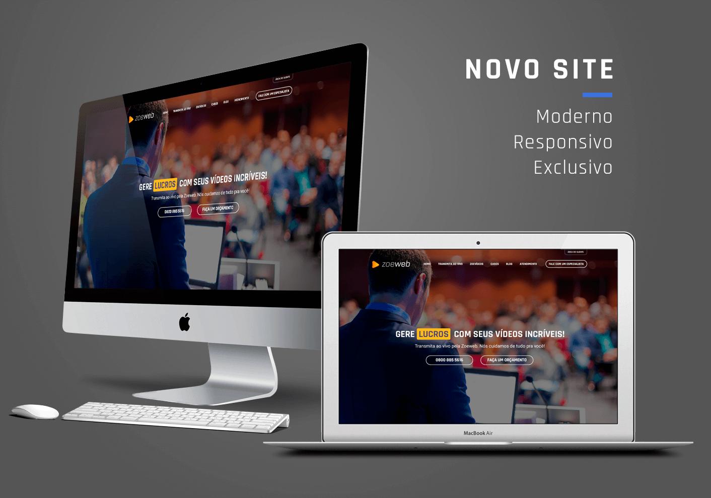 Site Reponsivo Zoeweb Streaming - I9ME Web & Design - Agêcia Digital em Fortaleza - CE